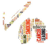 Word Cloud of Cigarette and Lung — Stock Photo