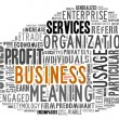 Word Cloud of Business Tag - Stock Photo