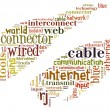 Royalty-Free Stock Photo: Word Cloud of RJ45 Internet Cable