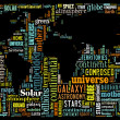Word Cloud of World Maps — Stock Photo