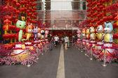 Chinese dierenriem decoratie bij winkelcentrum — Stockfoto