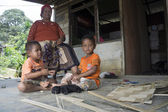 Temuans, one of indigenous peoples of Malaysia — Stock Photo