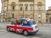 Union Jack cab — Stock Photo