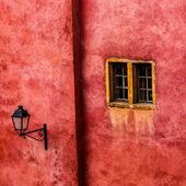 Window and lamp — Stock Photo