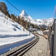Stock Photo: Train to Matterhorn