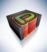 3D letters: D — Stock fotografie
