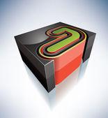 3D letters: J — Stock Photo