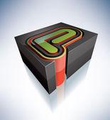 3D letters: P — Stock Photo