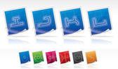 Bluprint font icons — Stock Photo