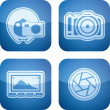 Photography Icons Set — Stock Photo