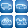 Stock Photo: Industry Icons: Transportations