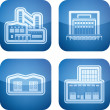 Industry Icons: Factory — Stock Photo