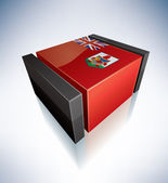 3D flag of Bermuda — Stock Photo