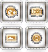 фотография иконы set — Стоковое фото