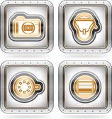 Fotografie icons set — Stockfoto