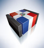 3D flag of Dominican Republic — Stock Photo