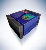 3D flag of Montserrat — Stock Photo
