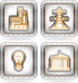 Průmysl ikony — Stock fotografie