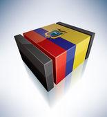 3d bandeira do equador — Foto Stock