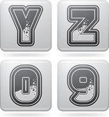 Cyfry & wielkimi literami — Zdjęcie stockowe