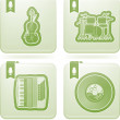 Music icons — Stock Photo #16088935
