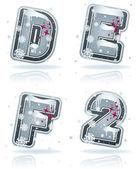 Winter digits & capital letters — Foto Stock