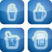 Bebida e comida — Fotografia Stock