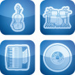 Music icons — Stock Photo #25533207