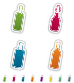 Alcohol bottles — Stock Photo
