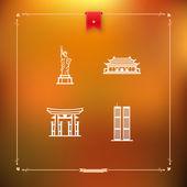 World Landmarks — Stock Photo
