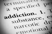Dictionary Word Addiction — Stock Photo