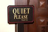 Quiet Please — Stock Photo