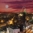 Stock Photo: Night view of Tallinn from top of house