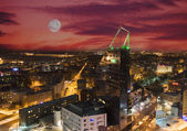 Night view of Tallinn from the top of house — Stock Photo