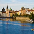 Prague and the Vltava - ストック写真