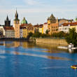 Prague and the Vltava - Stockfoto