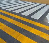 White and yellow stripes — Stock Photo