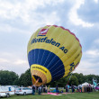 Hot air balloon festival in Muenster, Germany — Stock fotografie