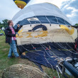 Stock Photo: Hot air balloon festival in Muenster, Germany