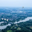 Hot air balloons over Muenster — Stok fotoğraf