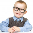 Portrait of a cute little boy wearing glasses — Stock Photo #12874810