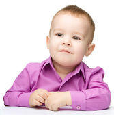 Portrait of a cute little boy — Stock Photo