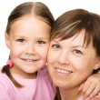 Royalty-Free Stock Photo: Portrait of a happy mother hugging her daughter