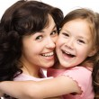 Portrait of happy daughter with her mother — Stock Photo #13921004