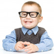 Portrait of a cute little boy wearing glasses — Stock Photo #14317619