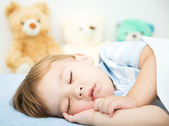 Cute little boy is sleeping — Stock Photo