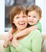 Mother is having fun with her son — Stock Photo