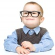 Portrait of a cute little boy wearing glasses — Stock Photo #21740633