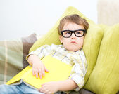 Little child with book — Stock Photo