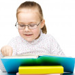 Little girl is reading a book — Stock Photo #21961321